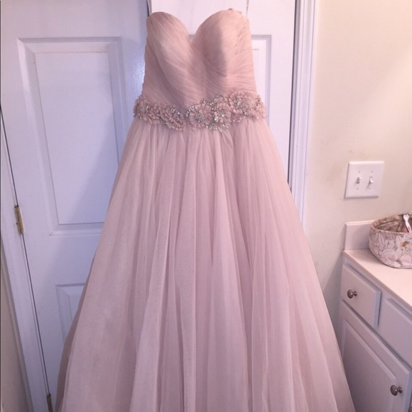 fff3cd14ae6b Allure Bridals Dresses | Blush Strapless Wedding Gown By Allure Size ...